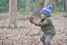優吾君林試木の葉を持って。