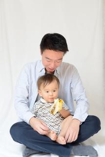 凜太郎君パパとバナナ