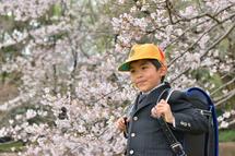 増子文翔くん桜前ランドセル
